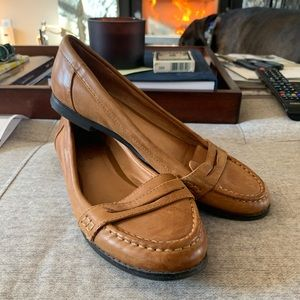 Aldo brown leather flat/loafer